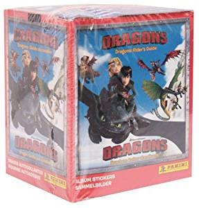 Panini DreamWorks Dragons - Sticker - Display mit 50 Tüten