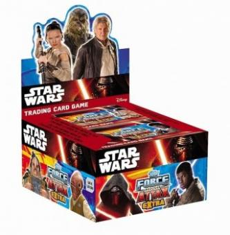 Topps Star Wars - Force Attax extra - Display mit 36 Booster - englisch