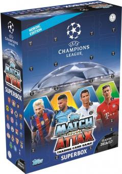 Topps Champions League Match Attax 2016/17 - Superbox - Nordic Edition - englisch
