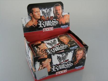 WWE Wrestling Rivals 1 Display / 50 Tüten  300 Sticker