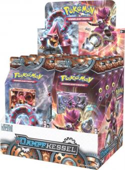 Pokemon XY11 Dampfkessel Themendeck - Display mit 8 Decks - deutsch