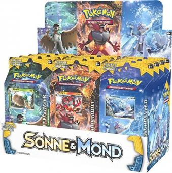 Pokemon Sonne & Mond Serie 1 - Display mit 8 Themendecks - Deutsch